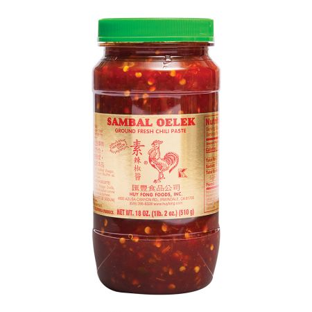 Sambal Oelek Ground Fresh Chili Paste 18oz(510g)