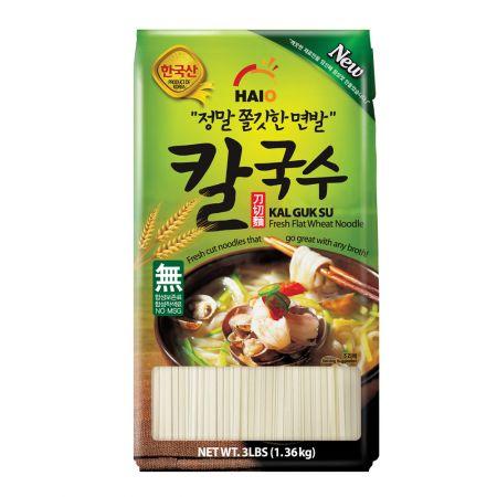 Fresh Flat Wheat Noodle Kalguksu 3lb(1.36kg)