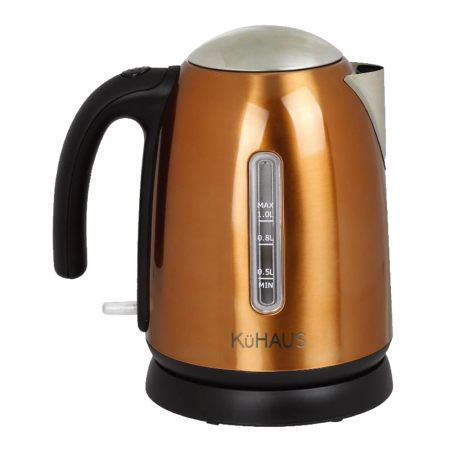Stainless Steel Electric Kettle Bronze 40.57 fl.oz(1.2L)