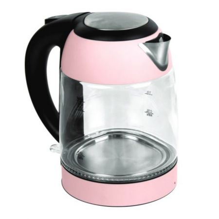 Electric Glass Kettle Pink 57.48 oz(1.7L) (1200W)