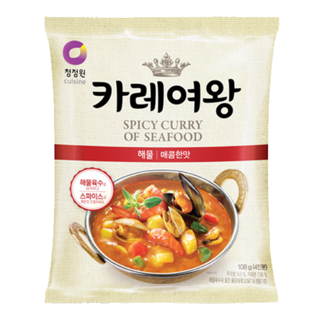 Queen's Curry Spicy Seafood Flavor 3.81oz(108g)