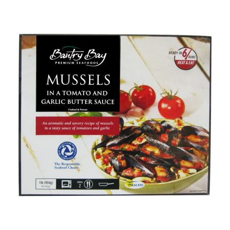 Mussels in Tomato & Garlic Butter Sauce 1lb(454g)
