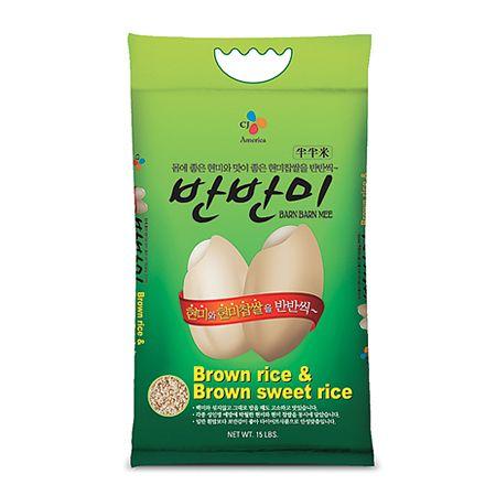 Brown Rice & Brown Sweet Rice (Barn Barn Mee) 15lb(6.8kg)