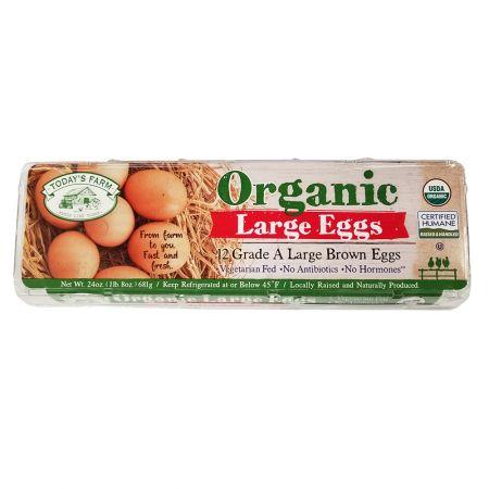 Grade A Organic 12 Large Brown Eggs 24oz(681g)