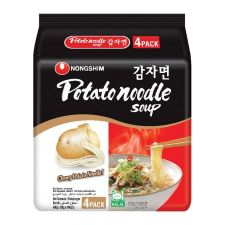 Nongshim Potato Noodle Soup 4.1oz(117g) 4 Packs, 농심 감자면 4.1oz(117g) 4팩