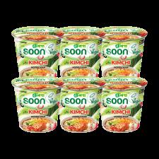 Nongshim Soon Kimchi Ramyun Cup 2.6oz(75g) 6 Cups, 농심 순김치라면 컵 2.6oz(75g) 6컵