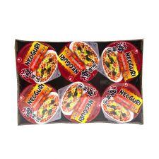 Nongshim Neoguri Spicy Cup 3.56oz(75g) 6 Cups, 농심 너구리 매운맛 컵  3.56oz(75g) 6컵, 農心 Neoguri Spicy Cup 3.56oz(75g) 6 Cups
