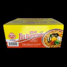 Ottogi Jin Ramen Hot Flavor 4.23oz(120g) 18 Packs, 오뚜기 진라면 매운맛 4.23oz(120g) 18팩, 不倒翁 Jin Ramen Hot Flavor 4.23oz(120g) 18 Packs