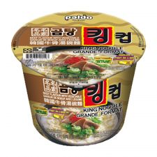 Paldo King Cup Noodle Beef Flavor with Vegetable 3.7oz(105g), 팔도 킹컵 곰탕면 3.7oz(105g)