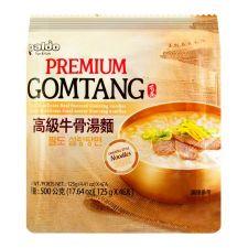 Paldo Premium Gomtang Noodles 4.41oz(125g) 4 Packs,팔도 프리미엄 곰탕면 4.41oz(125g) 4팩, 八道 高級牛骨湯麵 4.41oz(125g) 4包