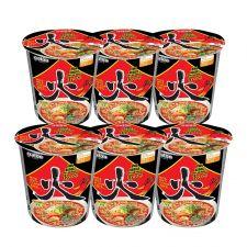 Paldo Hwa Noodle Soup Cup Hot & Spicy Flavor 2.29oz(65g) 6 Cups, 팔도 화라면 소컵 2.29oz(65g) 6컵