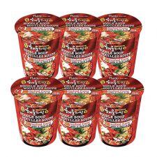 Paldo Seafood Flavor Noodle Soup 2.29oz(65g) 6 Cups, 팔도 일품 해물라면 컵 2.29oz(65g) 6컵