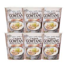 Paldo Gomtang Noodle Cup 2.29oz(65g) 6 Cups, 팔도 곰탕면 컵 2.29oz(65g) 6컵