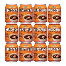 Paldo Virac Cinnamon Punch 8.04oz(238ml) 12 Cans, 팔도 비락수정과 8.04oz(238ml) 12캔