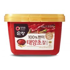 Chung Jung One Sunchang Gochujang Hot Pepper Paste 1.1lb(500g), 청정원 순창 100% 현미 태양초 찰고추장 1.1lb(500g)