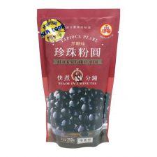 WuFuYuan Black Tapioca Pearl 8.8oz(250g), WuFuYuan 블랙 타피오카 펄 (버블티용) 8.8oz(250g), 五福圓 黑珍珠粉圓 8.8oz(250g)