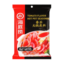 Haidilao Hot Pot Soup Base Tomato Flavor 7oz(200g), Haidilao 핫 팟 육수 토마토맛 7oz(200g), 海底撈 番茄火鍋底料 (酸甜番茄味) 7oz(200g)
