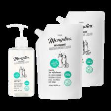 Mongdies Nature Friendly Dishwasing Liquid 16.9fl.oz(500ml) with Refill 16.9fl.oz(500ml) 2 Packs Set, 몽디에스 디시 솝 16.9fl.oz(500ml) & 리필 16.9fl.oz(500ml) 2팩 세트