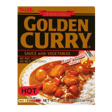 S&B Golden Curry Sauce with Vegetables Hot 8.1oz(230g), S&B 즉석 골든카레 매운맛 8.1oz(230g)