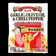 S&B Spaghetti Sauce Garlic, Olive Oil & Chili Pepper 1.57oz(44.6g), S&B 스파게티 소스 알리오 올리오 페퍼론치노 1.57oz(44.6g)