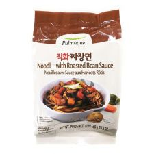 Pulmuone Noodles with Roasted Bean Sauce 23.3oz(660g), 풀무원 직화 짜장면 23.3oz(660g)