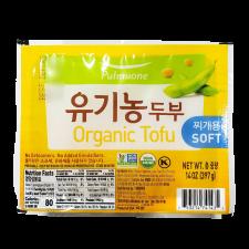 Pulmuone Organic Tofu (Soft) 14oz(397g), 풀무원 유기농 두부 (찌개용) 14oz(397g)