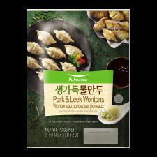 Pulmuone Pork & Leek Wontons 21.16oz(600g), 풀무원 생가득 물만두 21.16oz(600g)