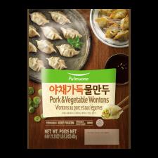 Pulmuone Pork & Vegetable Wontons 21.2oz(600g), 풀무원 야채 가득 물만두 21.2oz(600g)