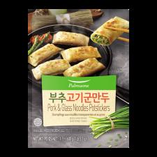 Pulmuone Pork & Glass Noodles Potstickers 21.2oz(600g), 풀무원 부추 고기 군만두 21.2oz(600g)