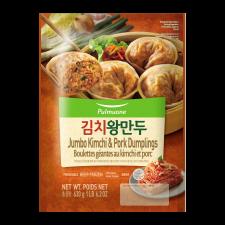 Pulmuone Jumbo Kimchi & Pork Dumplings 22.2oz(630g), 풀무원 김치 왕만두 22.2oz(630g)