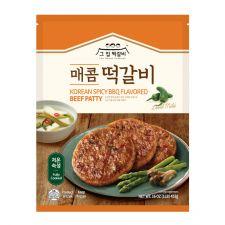 The House Dukkalbi Korean BBQ Flavored Beef Patty Mild Spicy 16oz(453g), 그집떡갈비 매콤 떡갈비 16oz(453g)