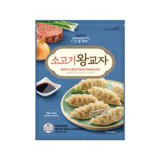 The House Mandu Beef & Vegetable Dumpling 24oz(680g), 그 집 만두 소고기 왕교자 24oz(680g), The House Mandu 韓式餃子 (牛肉) 24oz(680g)