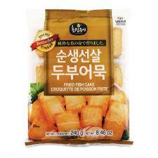 Choripdong Frozen Fried Fish Tofu 8.4oz(240g), 초립동이 순생선살 두부 어묵 8.4oz(240g)