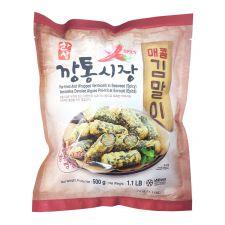 Hansang Spicy Deep Fried Seaweed Vermicelli Roll 1.1lb(500g), 한상 깡통시장 매콤 김말이 1.1lb(500g)