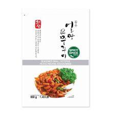 CJ Seasoned Small Octopus Spicy 1.43lb(650g), 씨제이 동우 얼짱쭈꾸미 매운맛 1.43lb(650g)