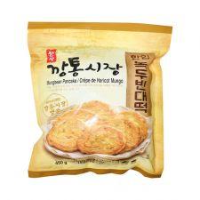 Hansang Mungbean Pancake 15.87oz(450g), 한상 깡통시장 한입 녹두빈대떡 15.87oz(450g), Hansang 綠豆煎餅 15.87oz(450g)