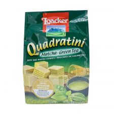 Loacker Quadratini Matcha Green Tea 7.76oz(220g), Loacker Quadratini 말차 그린티 7.76oz(220g)