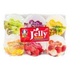 ABC Fruity Jelly Snack Assorted Flavor 4.33oz(122g) 6 Cups, ABC 과일맛 젤리 푸딩 4.33oz(122g) 6개입
