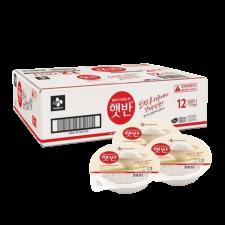 CJ Hetbahn Cooked White Rice Box 7.4oz(210g) 12 Ea, CJ 햇반 박스 7.4oz(210g) 12개입, CJ Hetbahn Cooked White Rice Box 7.4oz(210g) 12 Ea