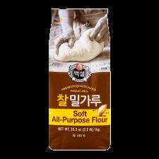 Beksul Premium Wheat Flour 2.2lb(1kg), 백설 찰밀가루 2.2lb(1kg)