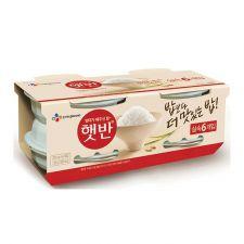 CJ Hetbahn Cooked White Rice 7.4oz(210g) 6 Ea, CJ 햇반 7.4oz(210g) 6개입, CJ Hetbahn Cooked White Rice 7.4oz(210g) 6 Ea