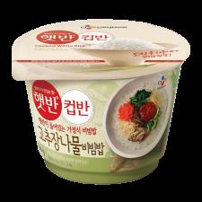 CJ Cooked White Rice with Assorted Vegetables Bibimbap 8.1oz(230g), CJ 햇반 컵반 고추장나물비빔밥 8.1oz(230g)
