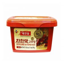 Haechandle Gochujang Hot Pepper Paste 1.1lb(500g), 해찬들  진한맛 고추장 1.1lb(500g)