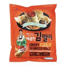 CJ Crispy Seaweed Rolls Hot & Spicy 1.1lb(500g), 씨제이 밀당의 고수 매콤한 김말이 1.1lb(500g)