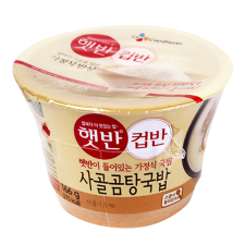 CJ Cooked Rice Bowl Beef Stock Soup 5.86oz(166g), CJ 햇반 컵반 사골곰탕국밥 5.86oz(166g)
