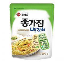 Chongga White Kimchi - Baek Kimchi 17.6oz(500g),종가집 종가 백김치 17.6oz(500g)