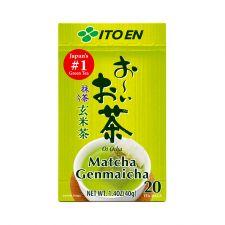 ITO EN Oi Ocha Genmai Tea Tea Bags 0.07oz(2g) 20 Tea Bags, 이토엔 오이오챠 현미차 티백 0.07oz(2g) 20 티백, 伊藤園 茉莉花抹茶茶包 0.07oz(2g) 20 茶包