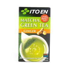ITO EN Matcha Green Tea Ginger Tea Bags 0.05oz(1.5g) 20 Tea Bags, 이토엔 말차 그린티 진저 0.05oz(1.5g) 20 티백