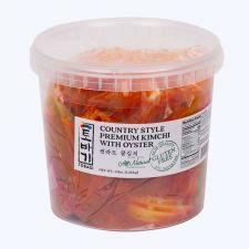 Tobagi Premium Cabbage Kimchi with Oyster 3lb(1.36kg), 토바기 특선 굴김치 3lb(1.36kg)