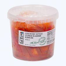 Tobagi Cubed Radish Kimchi 3lb(1.36kg), 토바기 깍두기 3lb(1.36kg)